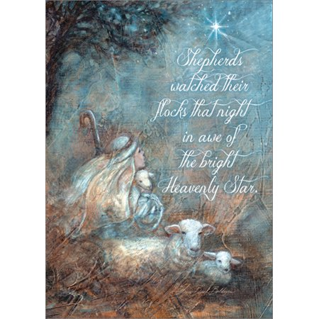 LPG Greetings Shepherd Boy: Sherri Buck Baldwin Box of 18 Religious Christmas Cards - Religious Christmas Card Sayings