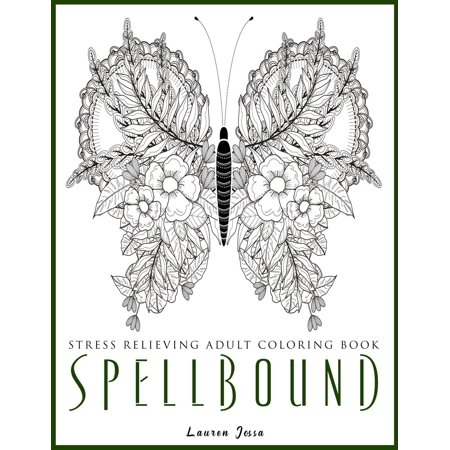 Spellbound - Stress Relieving Adult Coloring Book (Paperback) for $<!---->