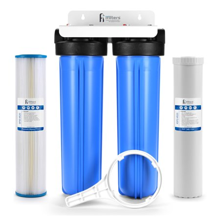 Well Water Whole House Filtration System 20 Quot Dual Stage