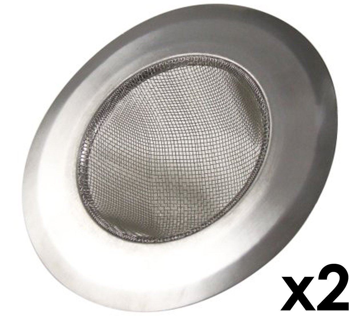 Hs5049 Ss2 Stainless Steel Kitchen Sink Strainer Set Of 2 Large Wide Rim 4 25 Diameter Perfect For Kitchen Sinks Set Of 2 Large Kitchen Sink