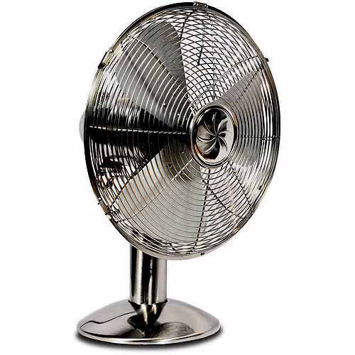"""Soleus Air 12"""" Metal Table Fan with Manual Controls"""