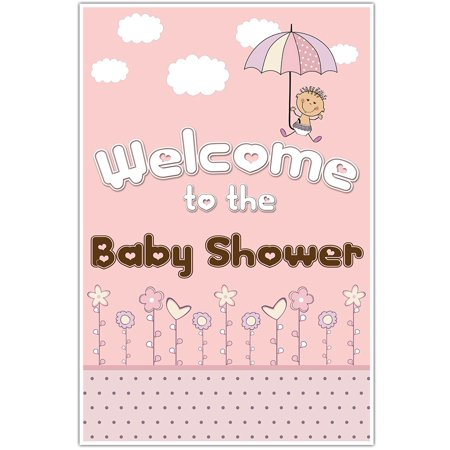 Umbrella Girl Welcome Sign for Baby Shower for $<!---->
