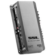EV2.200 Evolution 200 Watt, 2 Channel, 2 to 8 Ohm Stable Class A/B, Full Range Car Amplifier, Gun Metal Grey, 100 W MAX Power @ 2 Ohm x 2 Channels By Sound Storm Laboratories