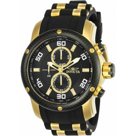 Men's Pro Diver Quartz Chrono Two Tone Stainless Steel 100m Watch