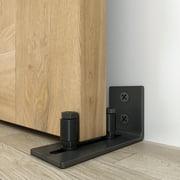 WINSOON Sliding Barn Door Floor Guide Wall Mount Adjustable Double Roller Hardware