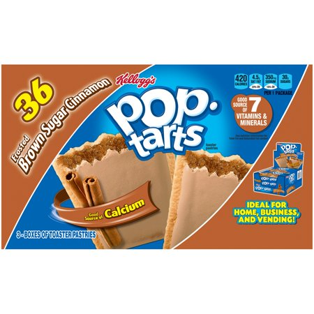 Kellogg's Pop-Tarts Frosted Brown Sugar Cinnamon Toaster Pastries 3-22 oz. Boxes
