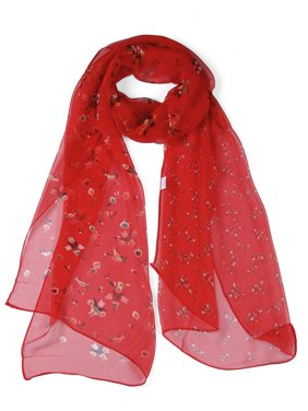Unique Bargains Flora Silky Long Beach Chiffon Shawl Scarf Scarves(Women's)