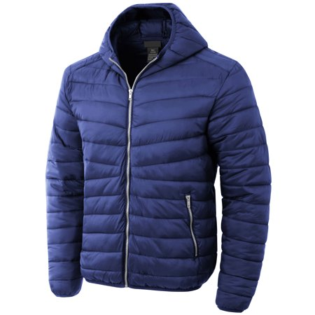 Ma Croix Mens Lightweight Puffer Jacket Alternative Down Quilted Hiking Parka with Hood