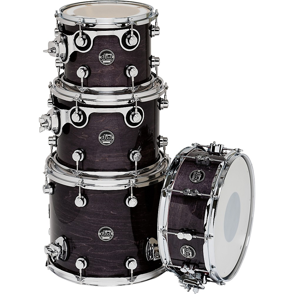 DW Performance Series TomPack 4 Ebony Stain Lacquer by DW