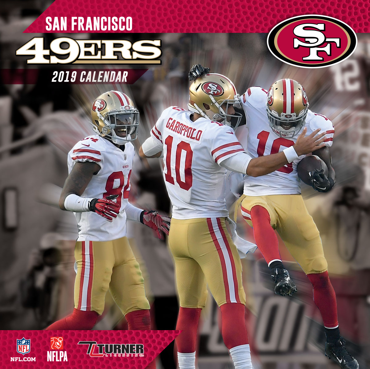 2019 12X12 TEAM WALL CALENDAR, SAN FRANCISCO 49ERS
