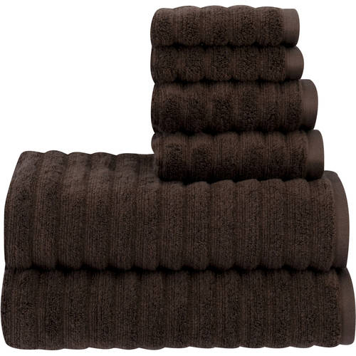 Mainstays Performance Texture 6-Piece Towel Set by WELSPUN INDIA LTD