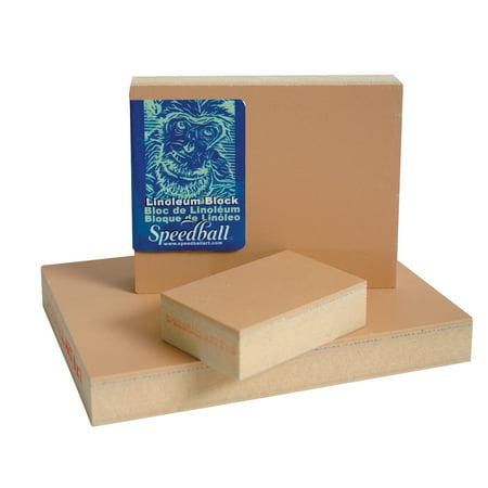 Speedball Linoleum Block, 5 x 7 Inches, Smoky Tan