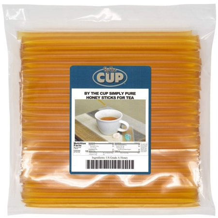 By The Cup Simply Pure Honey Sticks for Tea - 100 Honey Straws, 100% Pure