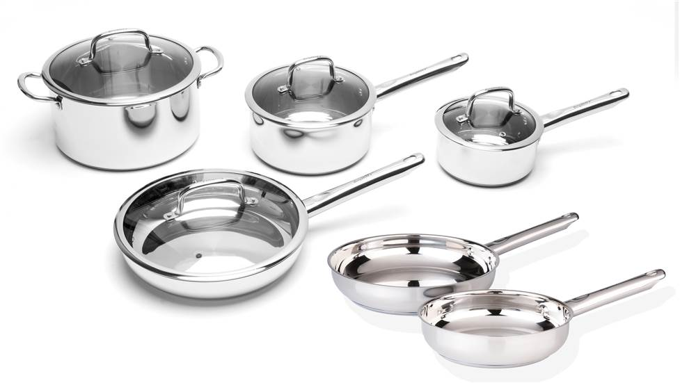10-Pc Stainless Steel Cookware Set by BergHOFF International Inc.