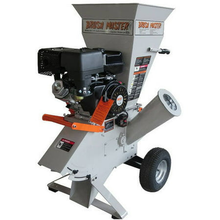 Brush Master;4;x 3; Electric Start 420cc Chromium Steel Gas Wood Chipper with Tow Bar