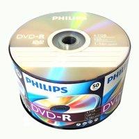 50 Pack Philips Blank DVD-R DVDR