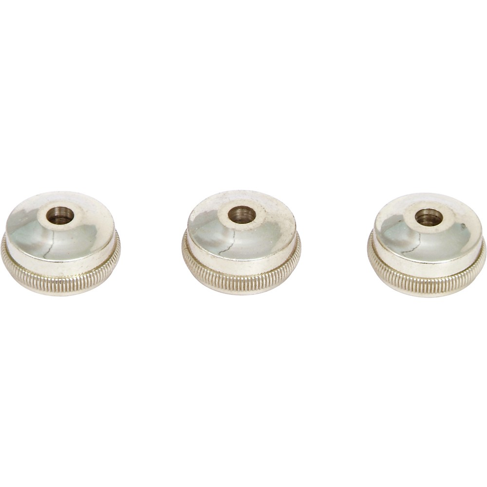 Bach Heavy Bottom Valve Caps for Trumpet Nickel Silver - Set Of Three