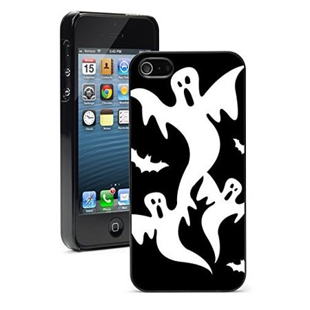Apple iPhone 6 6s Hard Back Case Cover Halloween Ghosts with Bats (Black)](Halloween Clipart Png)