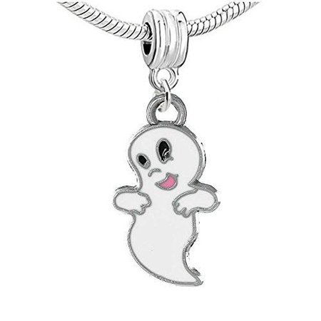 Halloween Cute Ghost Bead Compatible for Most European Snake Chain Bracelet