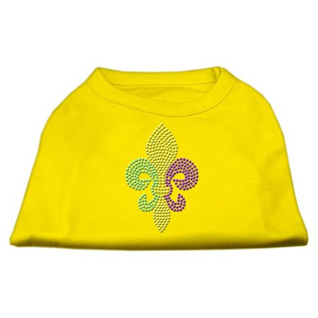 Mardi Gras Fleur De Lis Rhinestone Dog Shirt Yellow Xxl (18)