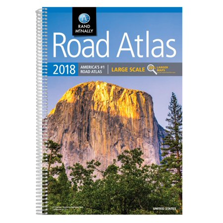 Rand Mcnally Large Scale Road Atlas U  S  A   2018 Rand Mcnally Large Scale Road Atlas  Lsra  Paperback