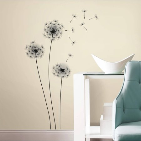 Whimsical Dandelion Peel and Stick Giant Wall