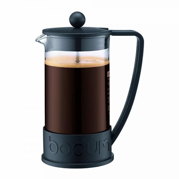 Bodum New Brazil 8-Cup French Press Coffee Maker, 34-Ounce, Black