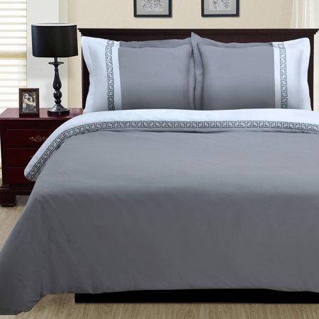 White Fur Boot Covers (Superior Emma Brushed Microfiber Wrinkle Resistant 3-Piece Duvet Cover)