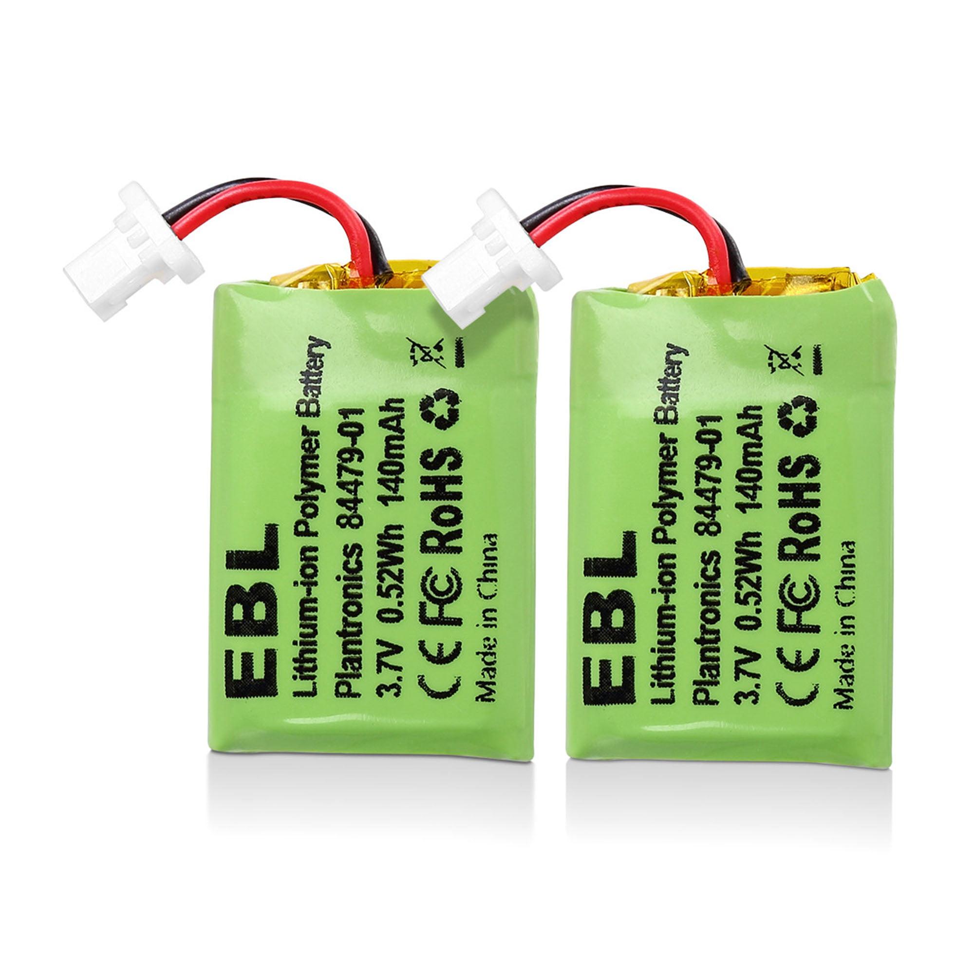 Ebl 2 Pack 140mah 3 7v Replacement Battery For Plantronics Cs540 86180 01 84479 01 Cs540a Cs540 C054 Wireless Headsets Walmart Com Walmart Com
