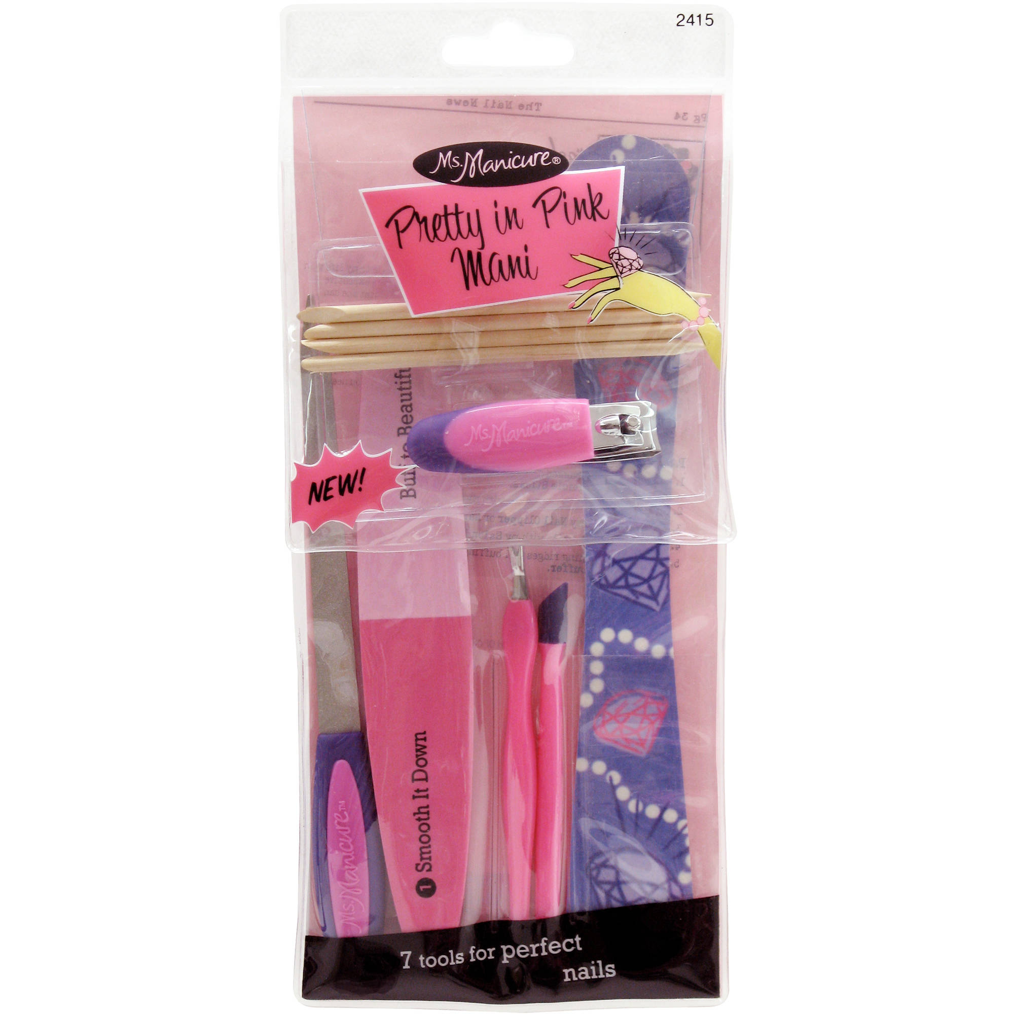 MS. MANICURE PRETTY IN PINK MANI SET (7 pcs)