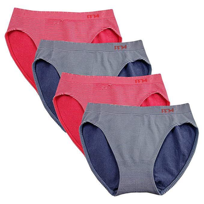 FEM Girl Seamless Underwear Soft Bikini Panties for Girls 4 Pack