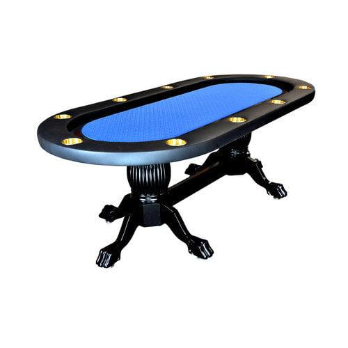 BBO Poker Elite 94'' Sunken Playing Surface Poker Table in Green