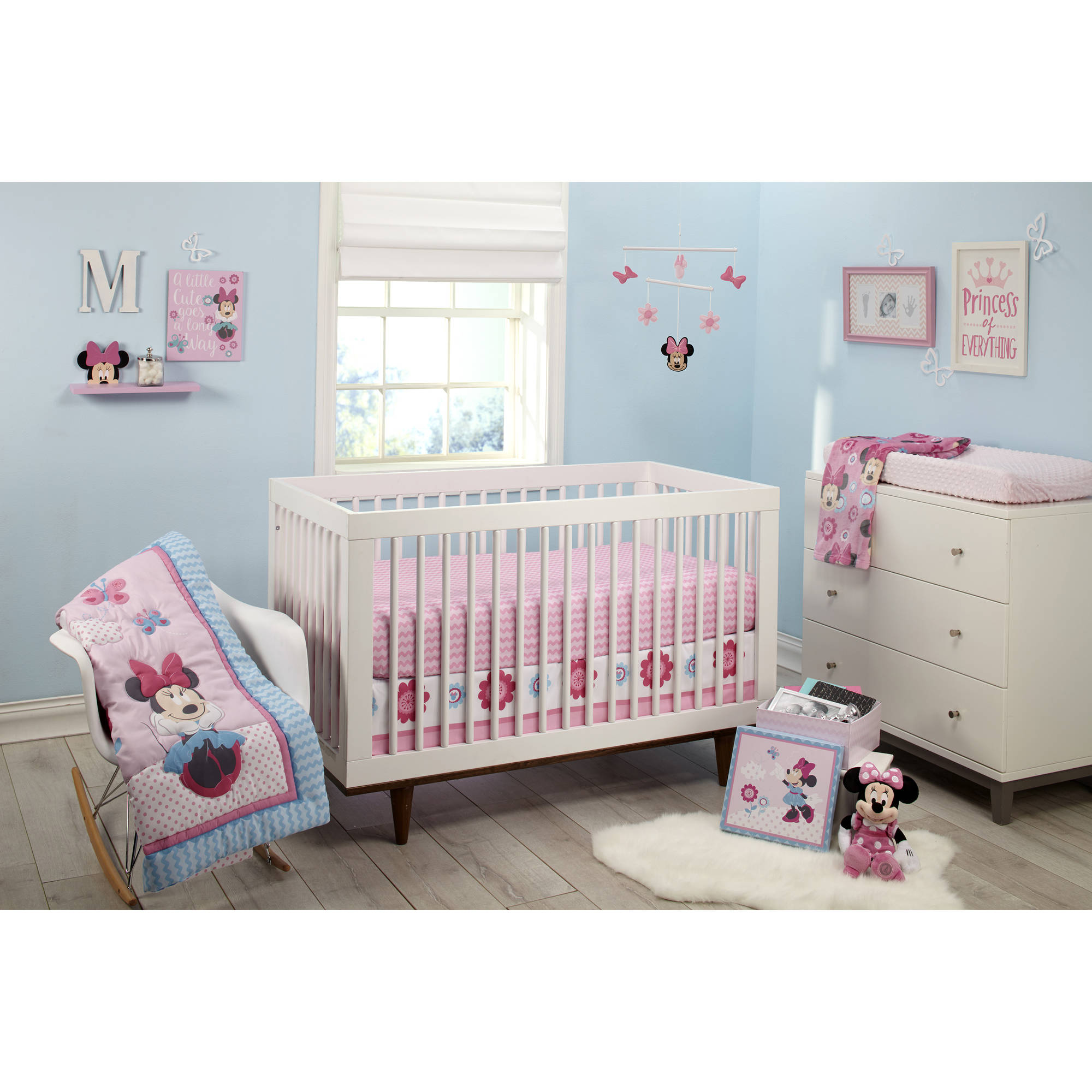 disney minnie mouse happy day 4 crib bedding set walmart