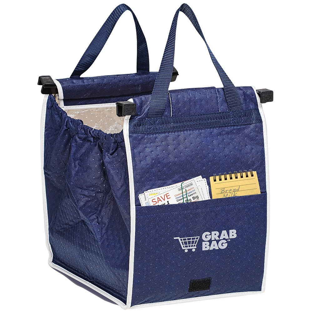 1 X ASOTV Insulated Reusable Grab Bag Grocery Shopping Tote Holds Up To 40 lbs, Use the insulated tote to keep cold items from getting warm, and keep cooked foods hot.., By Telebrands
