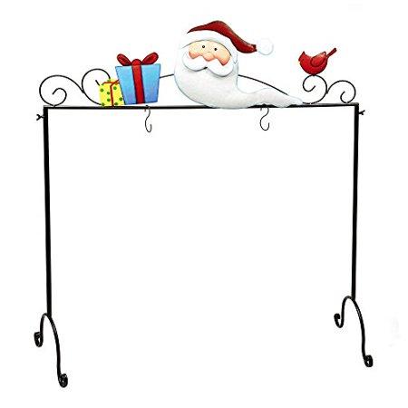 Nantucket Home Metal Freestanding Floor Christmas Stocking Holder Santa Clause - Walmart.com