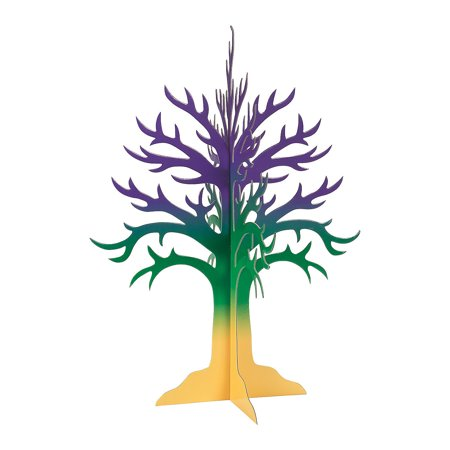IN-13758207 Mardi Gras Tree Centerpiece - Mardi Gras Tree
