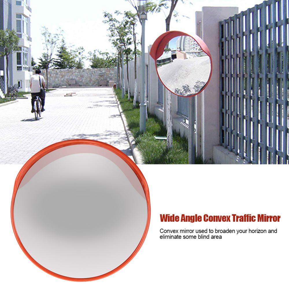 60cm Wide Angle Driveway Road Safety Convex Traffic Mirror Includes Mounting Bracket & Screw, Road Safety Mirror, Round Traffic Mirror