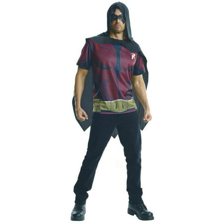 Adult Robin Batman Costume Shirt by Rubies 884843 - Batman And Robin Halloween Costumes For Adults