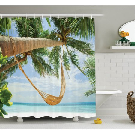 Holiday Decorations Shower Curtain Set View Of Nice Hammock With Palms By Th