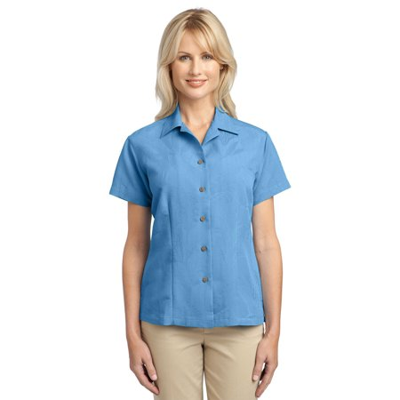 Port Authority L536 Ladies Patterned Camp Shirt - Resort Blue - Large