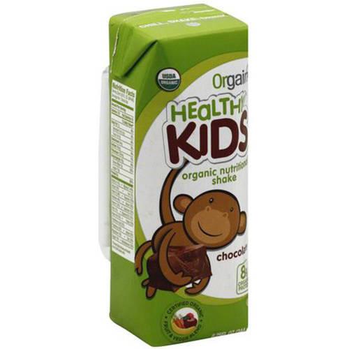 Orgain Healthy Kids Organic Chocolate Shake, 8.25 fl oz, (Pack of 12)