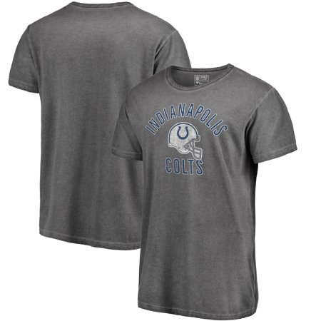 Indianapolis Colts NFL Pro Line by Fanatics Branded Washed Helmet Icon T-Shirt - Charcoal