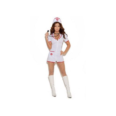 Head Nurse Costume 9971 Elegant Moments White/Red Medium, Medium](Cute Nurse Costume)
