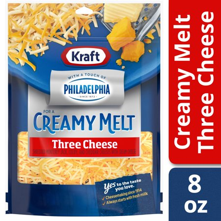 Kraft Shredded Three Cheese Blend With a Touch of Philadelphia , 8 oz