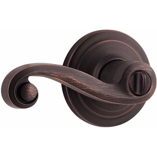 Kwikset Venetian Bronze Lido Bed and Bath Privacy Lever