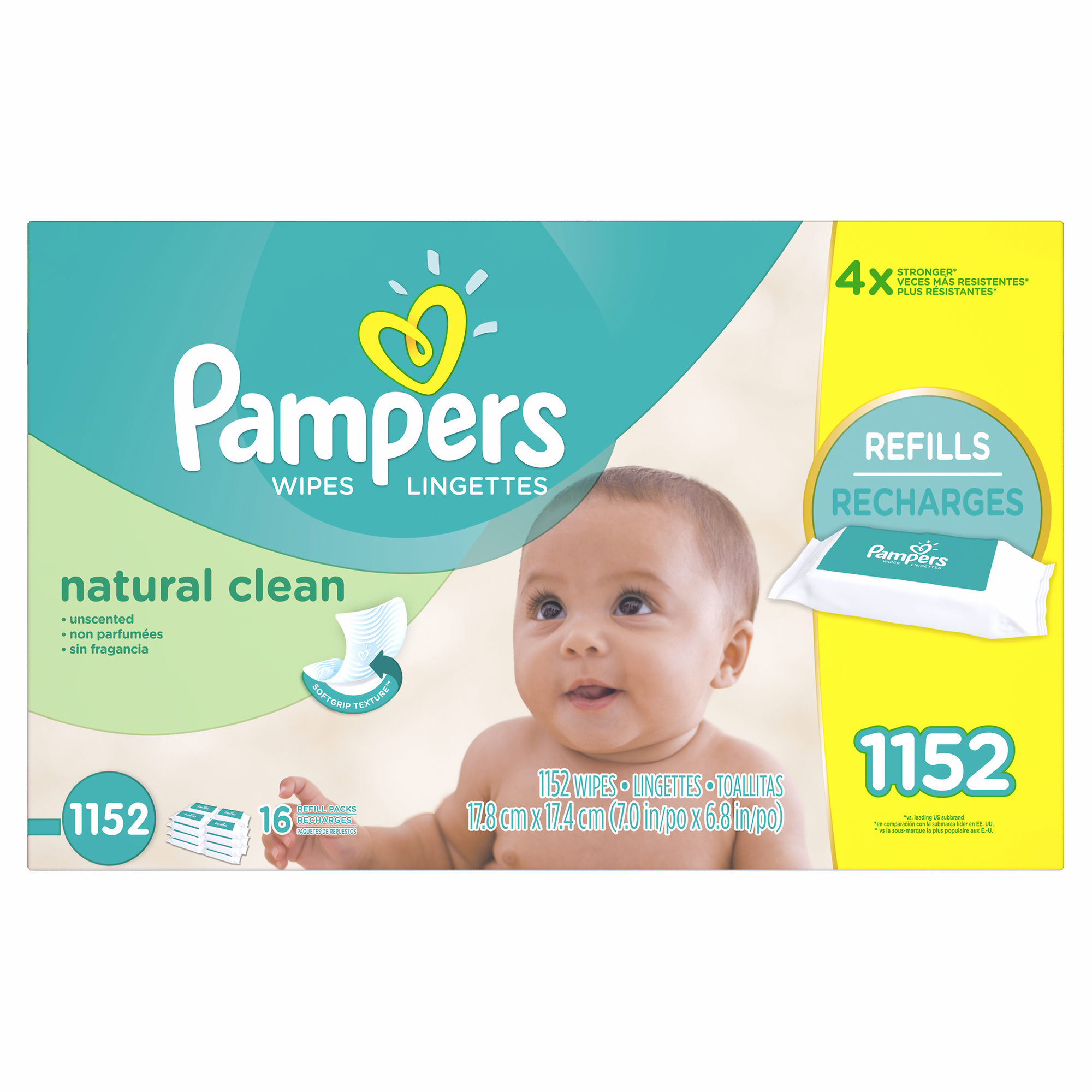 Pampers Natural Clean Baby Wipe Refills, 1,152 ct. (baby wipes - Wholesale Price