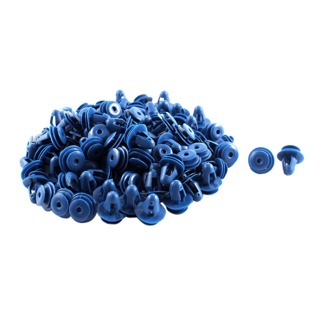 Unique Bargains Car Plastic Push Type Fasteners Clip Rivet Bumper 10mm Hole Dia 100pcs Blue