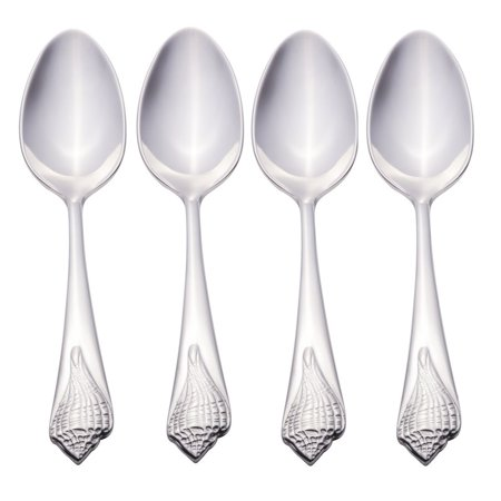 Reed & Barton Sea Shells 18/10 Stainless Steel Demitasse Spoon (Set of Four)