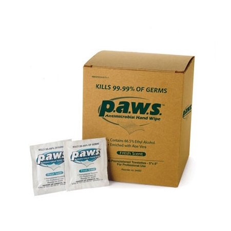 Safetec of America Paws Sanitizing Skin Wipe - 34400BX - 100 Each / Box