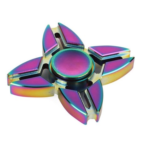 FancyNova Fantastic Rainbow Stainless Metal Hand Fidget Spinner EDC Toy For Adults and Children